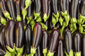 Stapel van aubergines — Stockfoto