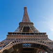 Wideangle View of Eiffel Tower — Stock Photo