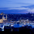 Golden Horn at Night - Stock Photo