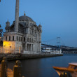 Ortakoy Mosque in Istanbul by Night - Stock Photo
