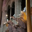 Statue in Notre Dame - Stock Photo
