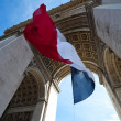 Stock Photo: Waving French Flag at Arc de Triomphe