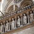 Stock Photo: Sculptures of Notre Dame de Paris