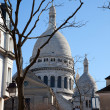 Sacre Coeur in Montmartre - Stock Photo