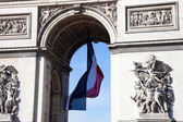 Detail from Arc de Triomphe in Charles De Gaulle — Stock Photo