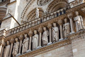 Sculptures of Notre Dame de Paris — Stock Photo