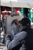 A Street Painter in Montmartre — Stock Photo