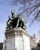Statue at Center of Notre Dame de Paris — Stock Photo