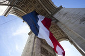 Arc de Triomphe with French Flag — Stock Photo