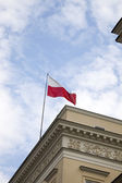 Waving Polish Flag — Stock Photo