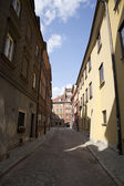 Old Street in Warsaw — Stock Photo