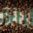 Coffee Burlap — Stock Photo #24028697
