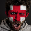 English Flag on Face - Photo