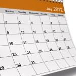 July 2012 Desktop Calendar — Stock Photo #24719501