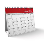 January 2011 Desktop Calendar — Stock Photo