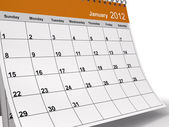 Calendario desktop di gennaio 2012 — Foto Stock