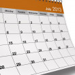 Folded July 2013 Desktop Calendar — Stock Photo