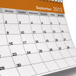 Stock Photo: Folded September 2013 Desktop Calendar