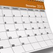Stock Photo: Folded December 2013 Desktop Calendar
