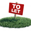 To Let — Foto Stock