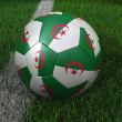 Soccer Ball with Algerian Flag — Stock Photo