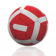 Isolated Soccer Ball with Austrian Flag - 图库照片