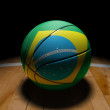 Stock Photo: BraziliBasket Ball with Dramatic Light