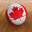 Stock Photo: Basket Ball with CanadiFlag