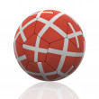 Isolated Soccer Ball with Danish Flag - Stock Photo