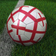Soccer Ball with English Flag — Stock Photo