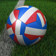 Soccer Ball with French Flag — Stock Photo
