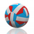 Isolated Soccer Ball with French Flag — Stock Photo