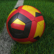 Soccer Ball with German Flag — 图库照片
