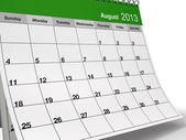 Folded August 2013 Desktop Calendar — Stock Photo