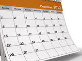 Folded December 2013 Desktop Calendar — 图库照片