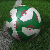 Soccer Ball with Algerian Flag — Stock Photo