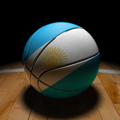 Argentinian Basket Ball with Dramatic Light — Stock Photo