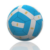 Isolated Soccer Ball with Argentinian Flag — Stock Photo
