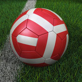 Soccer Ball with Austrian Flag — Stock Photo