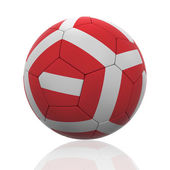 Isolated Soccer Ball with Austrian Flag — Stock Photo