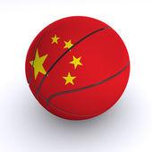 Chinese Basket Ball on White — Stock Photo