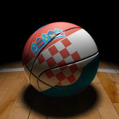 Croatian Basket Ball with Dramatic Light — Stock fotografie