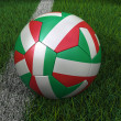 Soccer Ball with Italian Flag — Stock Photo