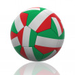 Isolated Soccer Ball with Italian Flag — Photo