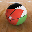 Basket Ball with Jordanian Flag — Stock Photo