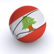 Lebanese Basket Ball on White — Stock Photo