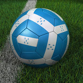 Soccer Ball with Honduras Flag — Stock Photo