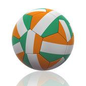 Pallone da calcio isolato con bandiera ivoriano — Foto Stock