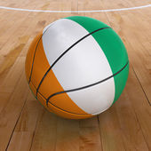 Basket Ball with Ivorian Flag — Stock Photo