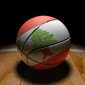 Lebanese Basket Ball with Dramatic Light — Stock Photo